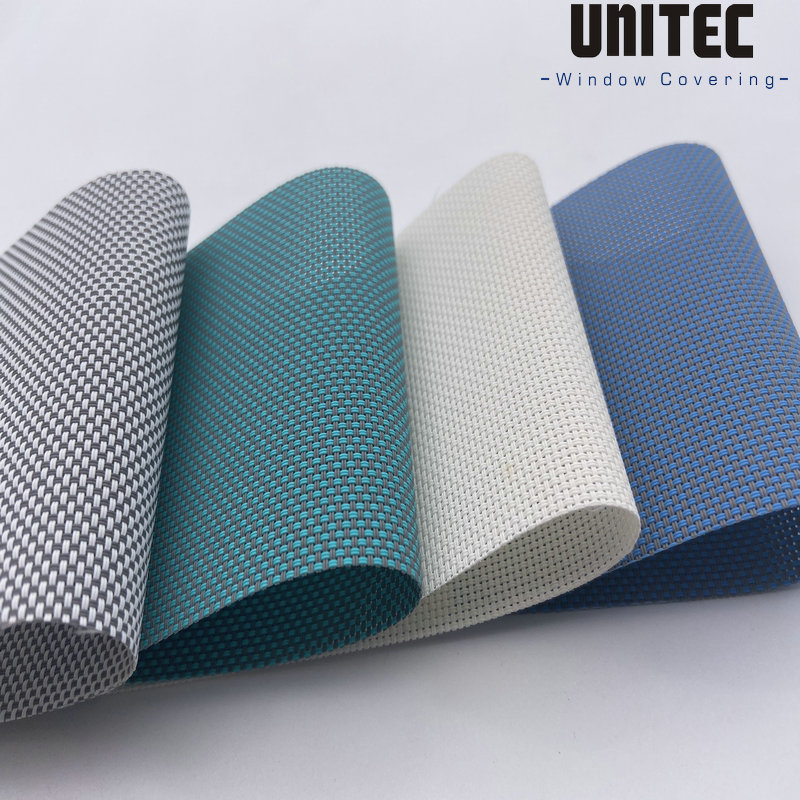 FIBERGLASS AND PVC SUNSCREEN FABRIC WITHOUT POLYESTER URFS300 SERIES