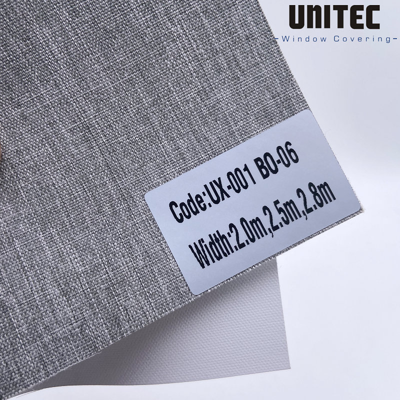 The most durable polyester blackout roller blind UX-001