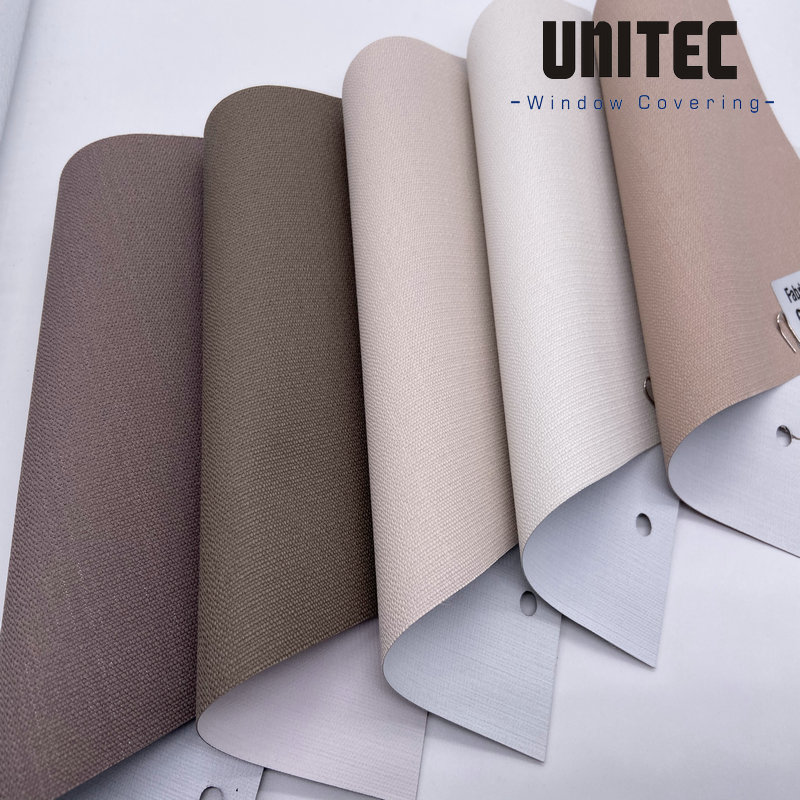 Roller blind fabric URB5109 with 100% shadow effect