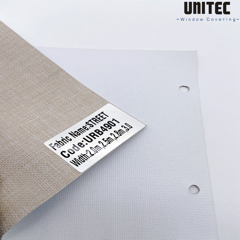 Heavy combination blackout roller blind URB4901